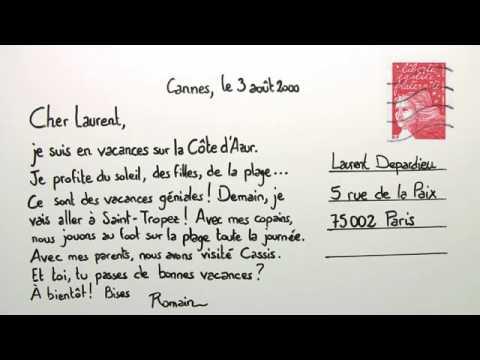 Lerne Eine Postkarte Zu Schreiben Französisch Textproduktion