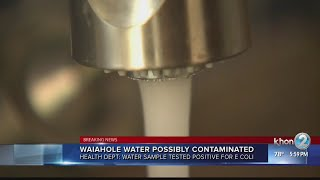 E. coli contamination confirmed in Waiahole water system