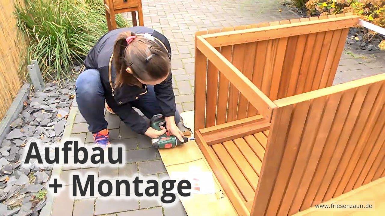 Mulltonnenbox Cubus Aufbau Montage Praxistest Youtube
