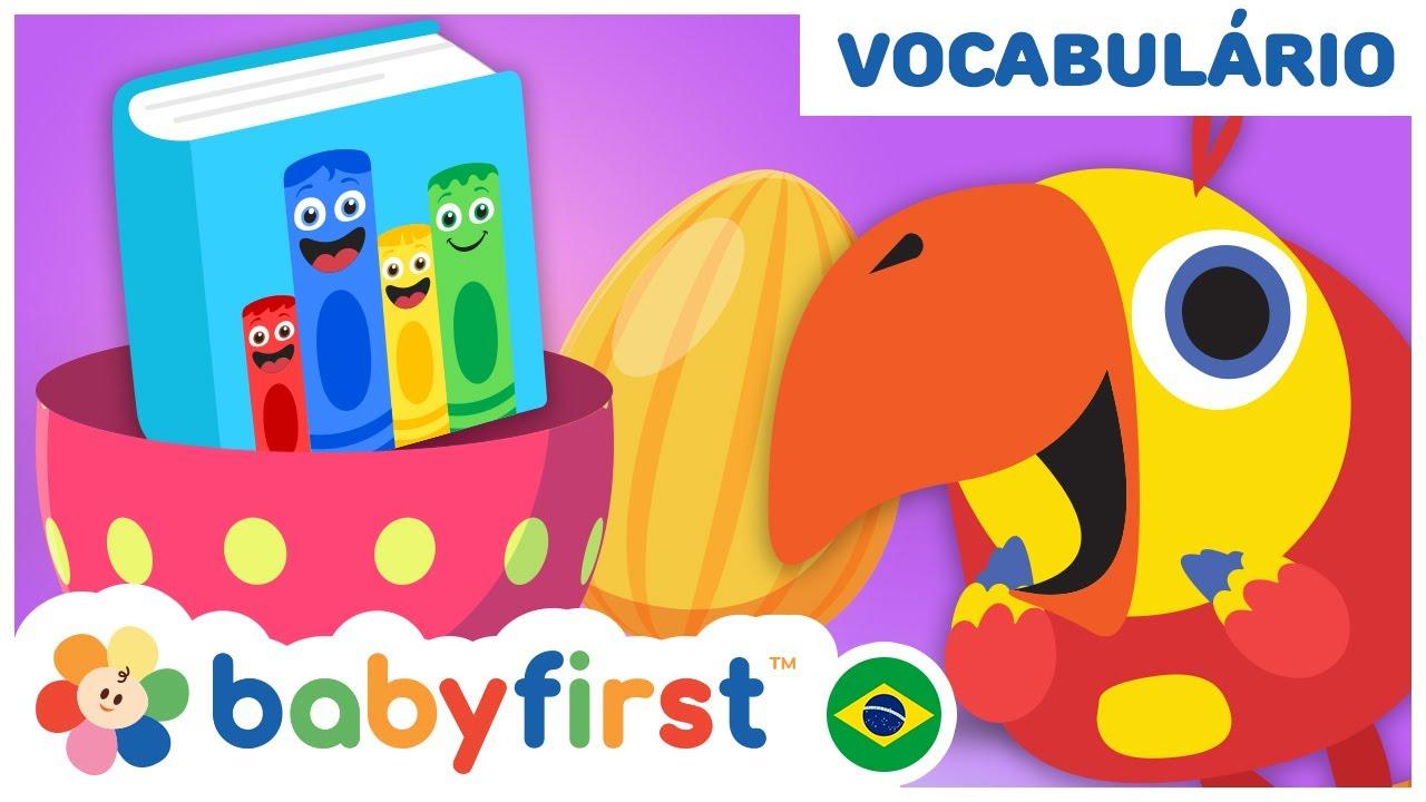 Vídeos Educativos para crianças – Compilação   Jogue com ovos surpresa de Larry    Baby First Brasil