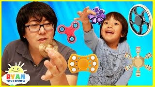vuclip FIDGET SPINNER CHALLENGE and Amazing Spinners tricks with Ryan ToysReview