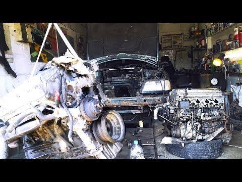 БЛОГ О МОТОРЕ №4 | Чистка Вентиляции картера ! Проблемы с установкой двигателя Мерседес M111