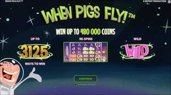 New online slot When Pigs Fly now at Unibet