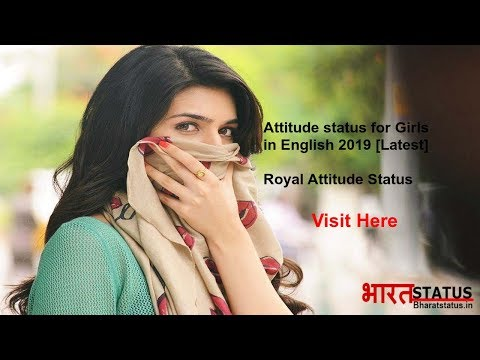 Attitude status For Girls in English [2019 Latest]