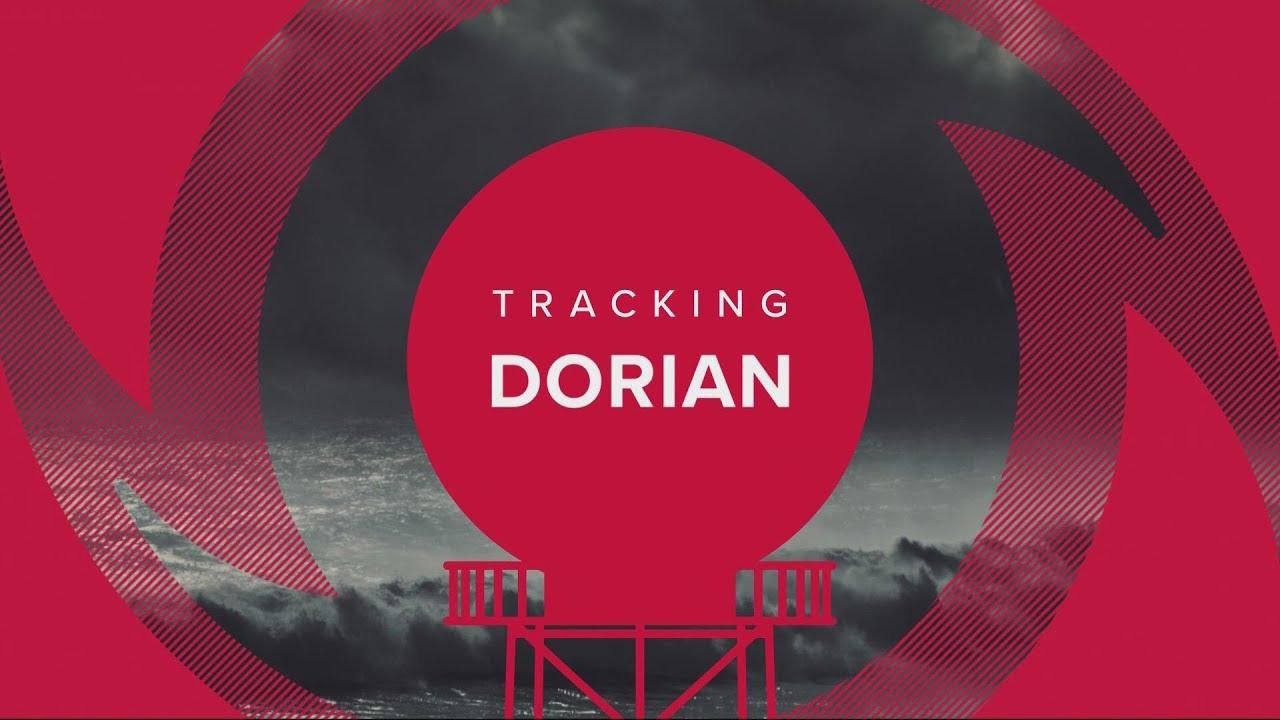 WATCH: Aerial video over Dorian's impact along the Carolina
