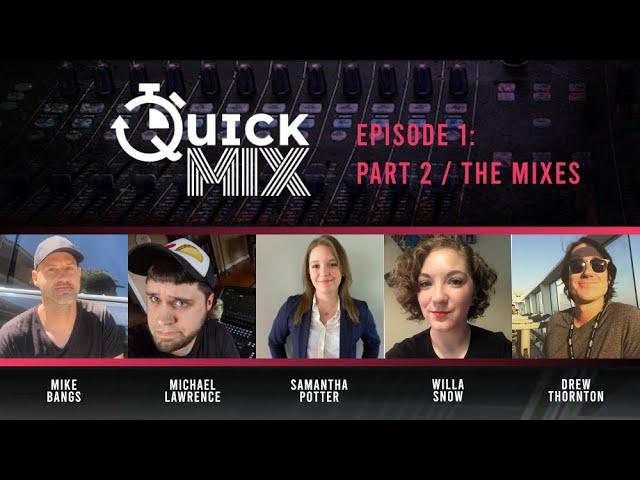 Allen & Heath QuickMix Episode 1, Part 2