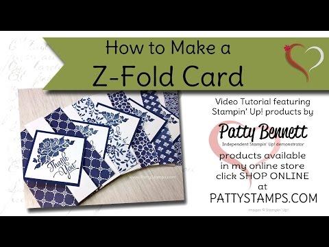 stampin up z fold card tutorial