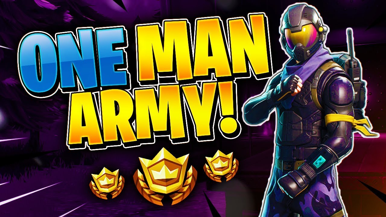 One Man Army Tournament Highlight  Fortnite Battle Royale