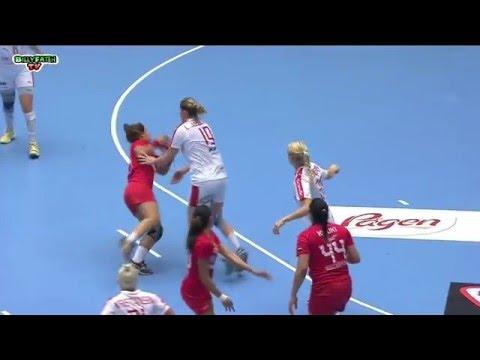 Denmark VS Tunisia 22nd IHF Women's Handball Championship 2015 Preliminary round
