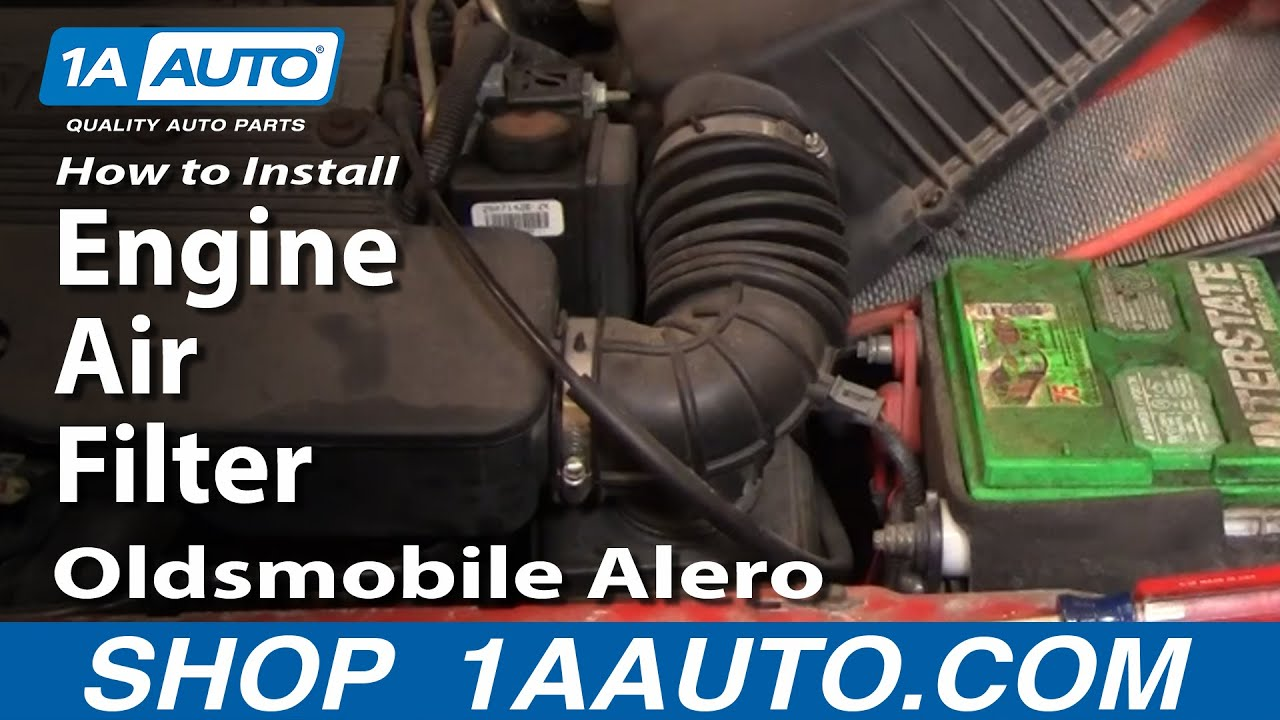 how to install replace engine air filter oldsmobile alero. Black Bedroom Furniture Sets. Home Design Ideas