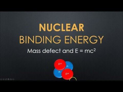 Nuclear Binding Energy tutorial (Post 16 physics)