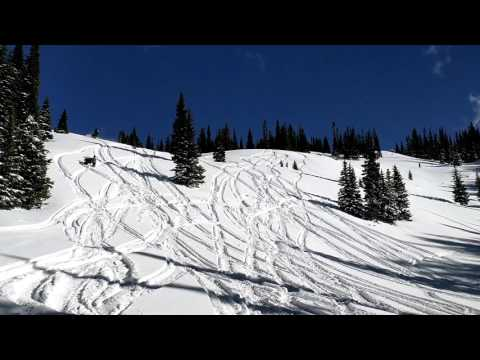 2016 Colorado Snowmobiling at Grand Mesa (Drone Footage)