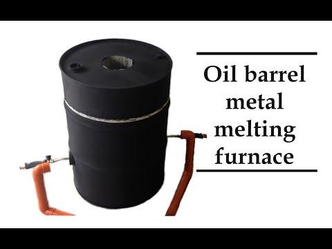 Oil barrel propane metal melting foundry furnace