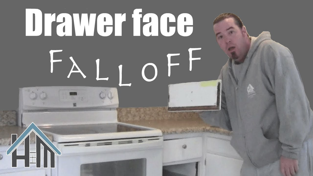 How to repair a kitchen drawer face fall off! Easy! Home ...