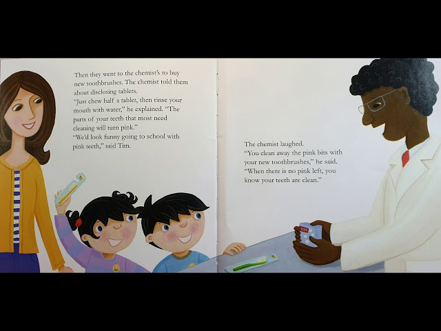 Topsy & Tim visit the Dentist - story read by oral health coach LeighGS