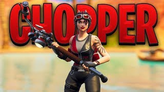 New Fortnite CHOPPER SKIN Gameplay..