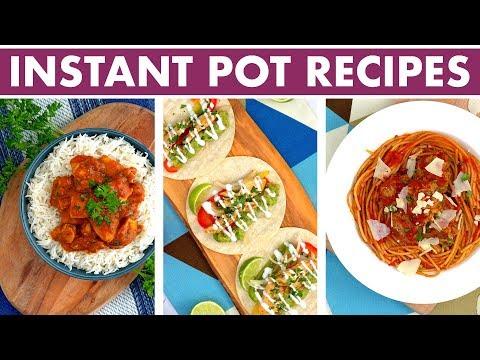 Healthy Instant Pot Recipes: 2-in-1 Weeknight Dinners! Spaghetti, Butter Chicken + Fajitas!