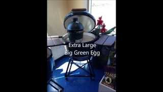 Big Green Egg Bbq Family - Showing All Sizes And Egg Of The Bbq, Smoker, And Pizza Oven