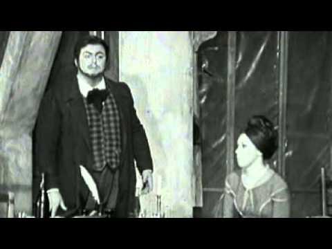 Luciano Pavarotti  and Mirella Freni in La Bohème