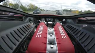 Taking a ride in buddy's car. Here is some 458 Italia power. Rear e...