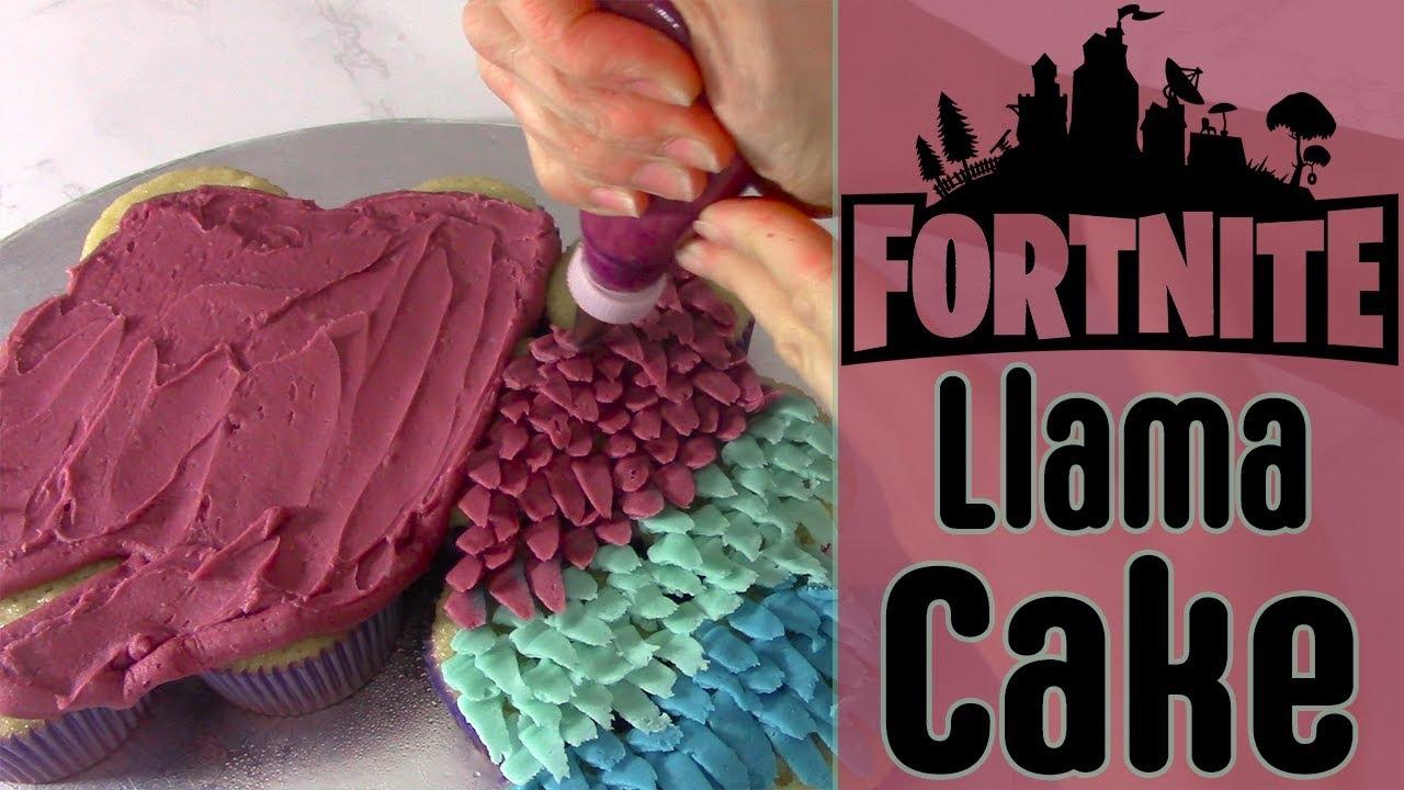 Llama Fortnite Cake Make A Fortnite Party Cupcake Cake