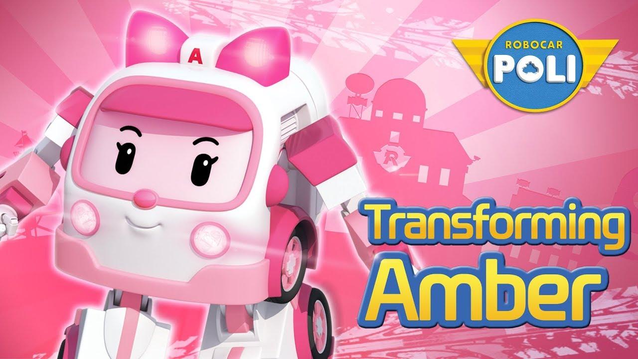 Transforming amber robocar poli special clips youtube - Robocar poli ambre ...