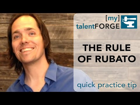 What's the Rule of Rubato - Quick Tip