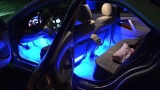 видео Тюнинг салона автобиля неоновой подсветкой