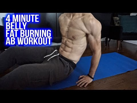 4 Minute Ab Workout To Lose Belly Fat At Home Within 1 Week (Teenagers, Men and Women)
