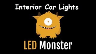 LED Monster Interior Car Lights Replacement Bulbs
