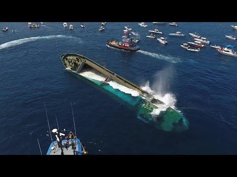 "Drone Captures Sinking of 180' Cargo Ship ""Voici Bernadette"""