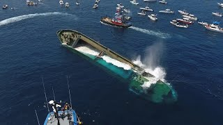 Drone Captures Sinking of 180' Cargo Ship 'Voici Bernadette'