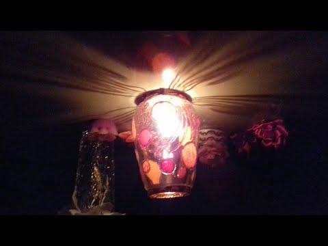 How to make a night lamp//Diwali decoration  idea // Diwali craft //simply lamp 16.