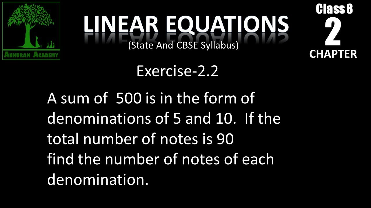 Class 8 Linear Equations in One Variable