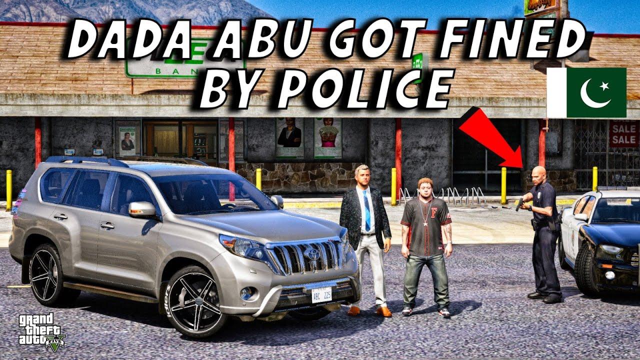 GTA 5 Pakistan | DADA ABU Got Fined By Police | Toyota Land Cruiser Prado | Urdu