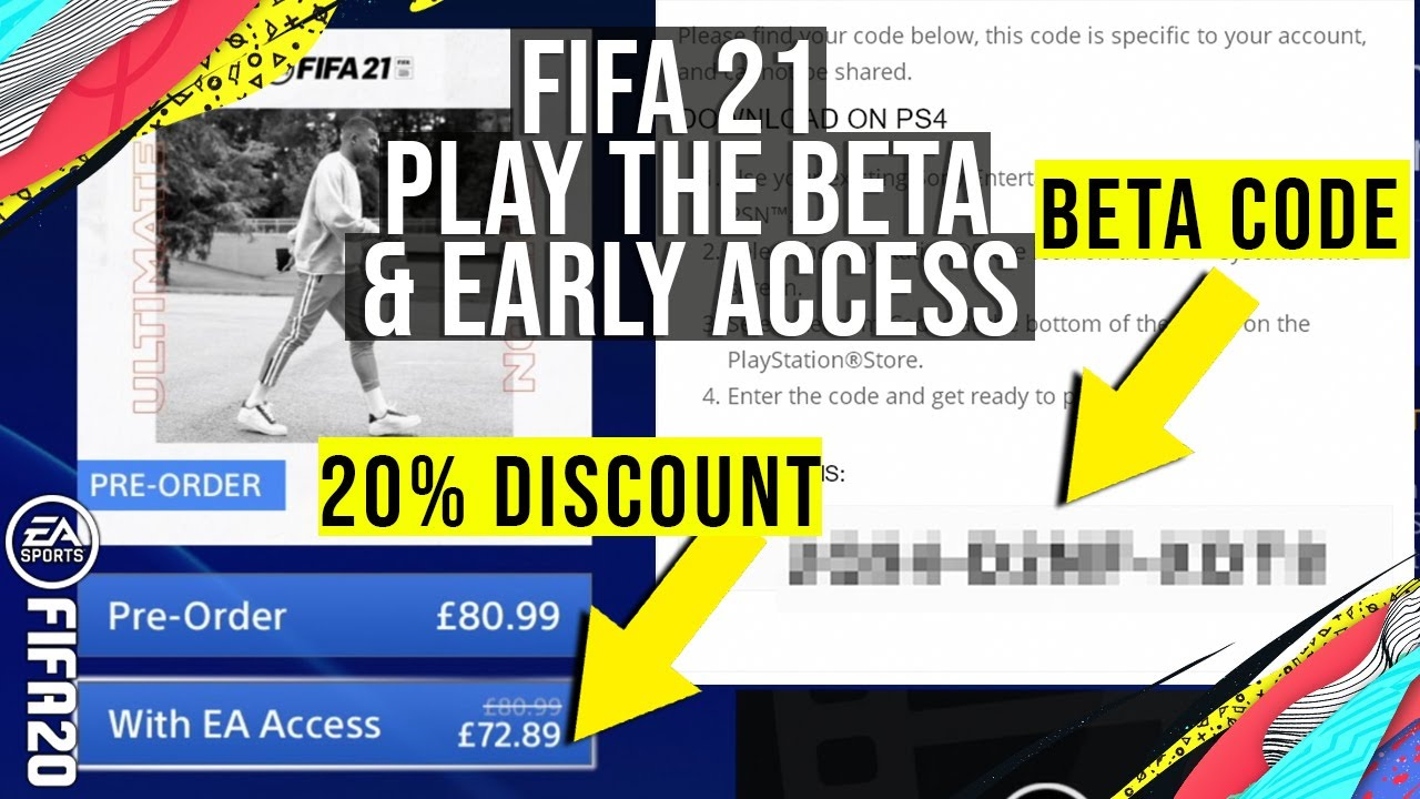 FIFA 21 - HOW TO GET BETA CODES / PLAY FIFA EARLY ON EARLY ACCESS & Which FIFA 21 Edition To Buy?
