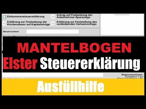 Mantelbogen 2016 Steuererklärung selber machen – Tutorial / Erklärung / Ausfüllhilfe