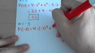 Valor numérico de polinomios