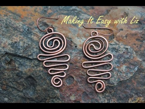 Atlantic Waves Earrings - Easy Wire Work