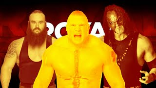 who will win Brock lejner vs brounstroman vs kane Tripal treat match in RR   [Game of lesson WWE]