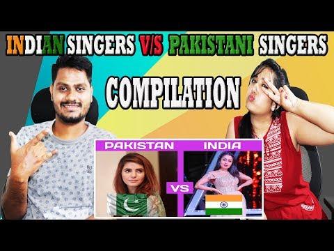 Indian Reaction On  Pakistani Singers VS Indian Singers (INDIA vs PAKISTAN) | Krishna Views