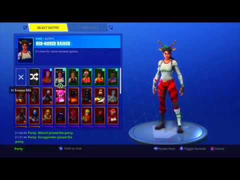 My Fortnite Account (BEFORE THEY RE-RELEASE CHRISTMAS SKINS)