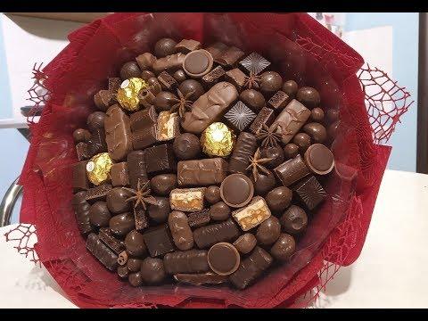 Мастер - класс : шоколадный букет своими руками  - лучший вкусный подарок!