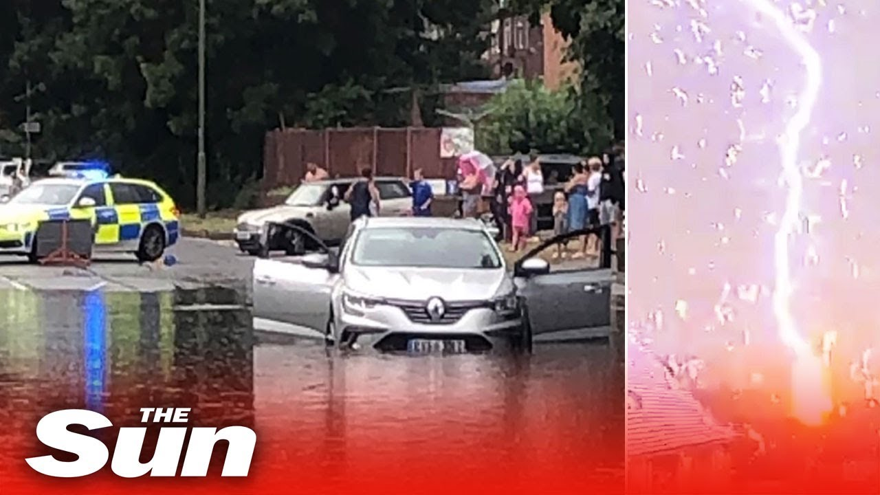 Thunderstorms, hail & power cuts cause travel chaos across UK