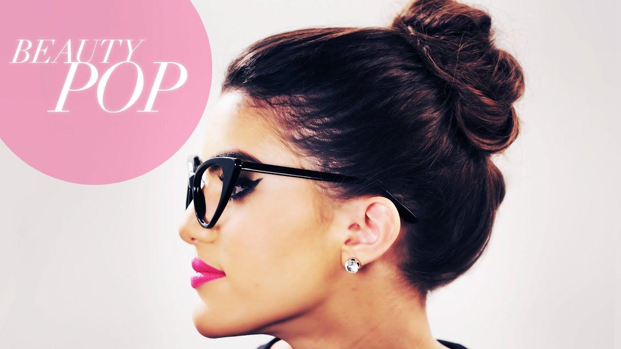 Nerd Chic Messy Bun Beauty Pop With Camila Coelho