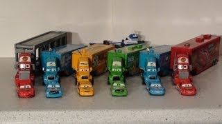 Pixar Cars, The Haulers, with Mack, Lightning , Chick Hicks and Octane Gain Haulers