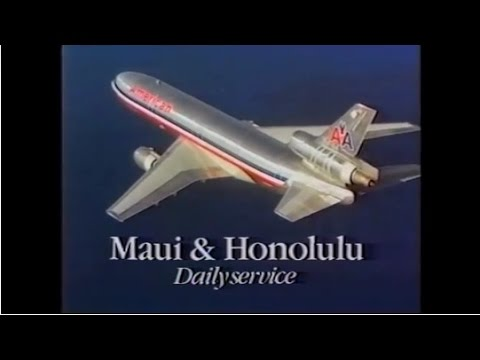 1985 American Airlines Commercial for Hawaii