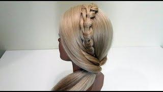 Красивая быстрая и легкая прическа.Подробный видео урок.Beautiful fast and easy hairstyle.