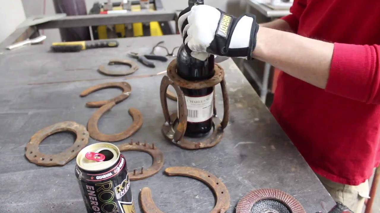 Horseshoe Wine Bottle Holder - YouTube