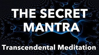 Why is the mantra secret in transcendental meditation #TM #consciousness
